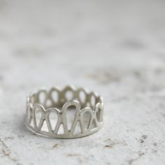 Silver Filigree Knuckle Ring | This knuckle ring is handmade from sterling silver and feature... | Rings