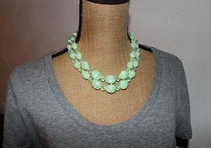 Vintage 1960's Trifari Sea Foam Green Necklace by BaciVintage, $20.00