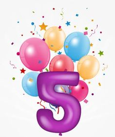 Happy Birthday balloon with number , Kids Birthday Pictures, Kids Birthday Cards, Birthday Numbers, Birthday Fun, Birthday Wishes Gif, Birthday Countdown, Happy Birthday Balloons, Birthday Wallpaper, Number Balloons