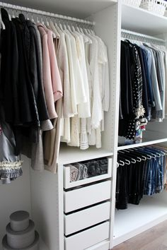 "Huge ""walk-in closet"" tour – be the designer of your life Bedroom Closet Design, Master Bedroom Closet, Room Ideas Bedroom, Closet Designs, Bedroom Wardrobe, Wardrobe Closet, Walk In Closet, Dressing Room Closet, Dressing Room Design"