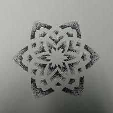 flower tattoo dotwork