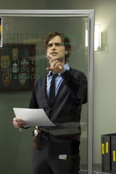 Dr. Spencer Reid (Matthew Gray Gubler) from Criminal Minds