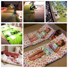 These pillow beds are great for reading, watching TV or pull them out for sleepovers... #diy #crafts