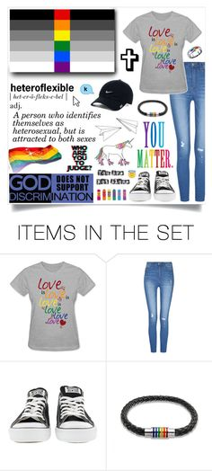 """♡ I'm Heteroflexible ♡ RtD"" by wwelover02 ❤ liked on Polyvore featuring art, pride and Heteroflexible"