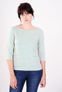 Organic cotton t-shirt with stripes