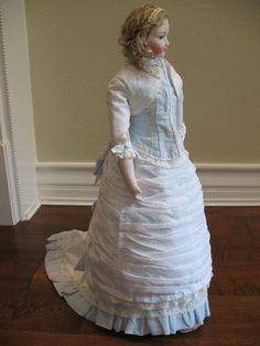 """1878 French Fashion Style Promenade Suit for 21"""" Doll from treasureddollcreations on Ruby Lane"""