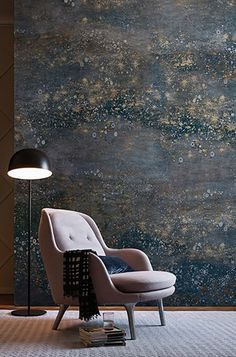 Milky Way wallpaper by Eva Germani brings the universe inside with a magical dusting of stars