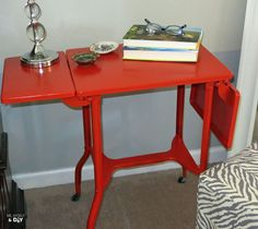 Hometalk   Thrift Find: Vintage Typewriter Table Makeover
