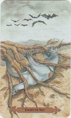 8 of Sky - Mystical Cats Tarot