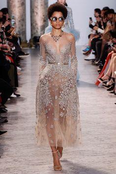 Vestido con transparencia Elie Saab Primavera - Verano 2017