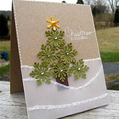 Really cool idea for making holiday cards using different shapes. I definitely want to play with this.