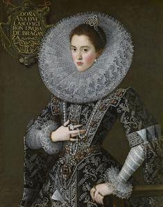 © Juan Pantoja de la Cruz - Portrait of doña Ana de Velasco y Girón, Duchess of Braganza, in Court Dress (1603)
