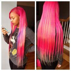 Bahja rodriguez pink box braids