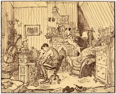 Walt Disney Animation Studios - sketch for 101 Dalmatians by Ken Anderson Art Disney, Disney Kunst, Disney Concept Art, Disney Magic, Disney Movies, Walt Disney Animation Studios, Croquis Disney, Drawn Art, Disney Sketches