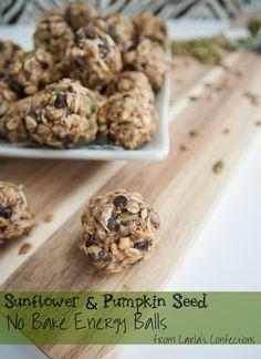 Carla's Confections: Sunflower & Pumpkin Seed No-Bake Energy Balls - (Chopped raisins instead of chocolate.)