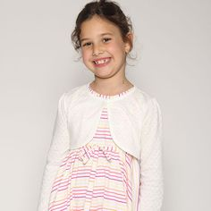 Girls cardigan  Girls Bolero  White Cotton Toddler by nukile