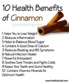 10 Proven Health Benefits of Cinnamon! #spice  #wellness #nutrition #healthy #organic