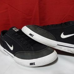 new concept 474c6 58d7b Vintage Nike Mens GTS 10 Classic Tennis Match Court Black Canvas 1999  Supreme Nike AthleticSneakers