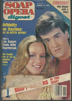 Soap Opera Digest March 15, 1983   Jennifer Cooke and John Wesley Shipp, Morgan and Kelly Nelson From Guiding Light on the Cover.