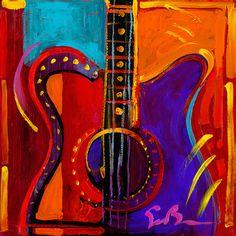 Music 18x18 -- by Simon Bull -- Acyrlics