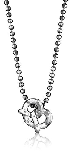 Alex Woo Sterling Silver Little Pretzel Pendant Necklace, 16' ** See this great product.