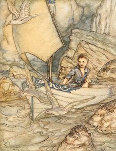 Algernon Charles Swinburne, The springtide of life, poems of childhood (1918) Illustrations by Arthur Rackham