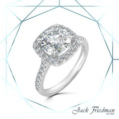 The cushion setting of diamonds attract the light forming a glittering effect. The round centre design is extremely eye-catching and very unique. Halo Engagement Rings, Halo Rings, Cushion Cut Halo, Centre, Diamonds, Cushions, Rose Gold, Eye, Drawing