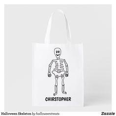Halloween Skeleton Grocery Bag