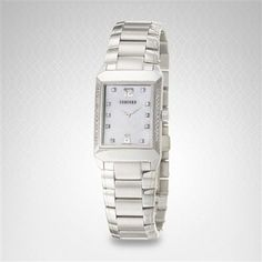 Concord Carlton Women's Watch in Stainless Steel With Diamond Dial 0310707 Concord Watches, Square Watch, Casio Watch, Rolex Watches, Stainless Steel, Diamond, Accessories, Diamonds, Jewelry Accessories