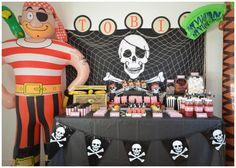 Pirate Party - Dessert Table Styled by Bespoke Party Plans
