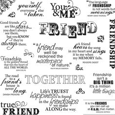 quotes for scrapbooking | Fiskars - Clear Acrylic Stamps - 8 x 8 - Friends Forever Quotes