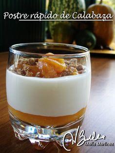 Hoy os propongo un postre de calabaza y yogur, acompañado con galleta de salvados. Vamos a necesitar:  - un yogur natural desnatado cremoso    (o 125 gramos de queso quark desnatado)  - cuatro o cinco buenas cucharadas de puré dulce de calabaza  - galleta de salvados, triturada  - edulcorante  Lee la receta completa aquí https://plus.google.com/u/0/116875614110079487493/posts/annMnd9fLtt