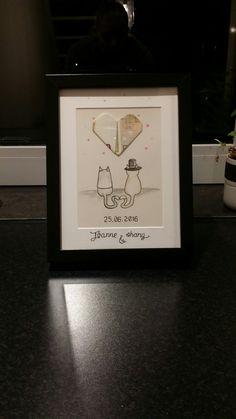 Wedding present with money #theylovecats