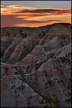 The Badlands of South Dakota -- one of my favorite memories is driving through the badlands late at night under a full moon