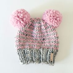 Did you know?! ANY Nickichicki beanie can come with double pompoms instead of just one! Just include a note in your message to seller when you place your order!