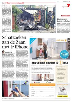 21 juli 2015 - Dagblad Zaanstreek / Noordhollands Dagblad