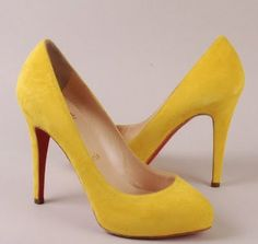 Yellow Louboutin Pumps - why do my random searches for yellow pumps lead to very expensive tastes?