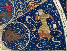 Timurlu sultanı  Mirza İskender'ın takımyıldızı cetvelinde Mars Akrep burcunda.
