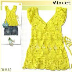 Receitas de Crochet: Blusa Verão