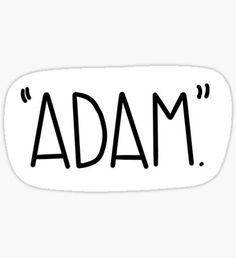"'""Adam"" Vine Reference Sticker' Sticker by Camille Abbott"
