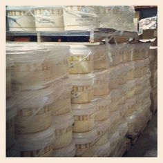 One skid of buttercream icing is 1500 pounds of buttercream bliss!