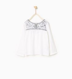 Raised embroidery blouse-SHIRTS-Girl-Kids | 4-14 years-KIDS | ZARA United States