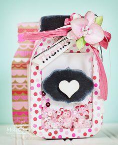 mason jar box by Michele Koyack for Silhouette America Blog - love this creative gift box idea for teacher's appreciation