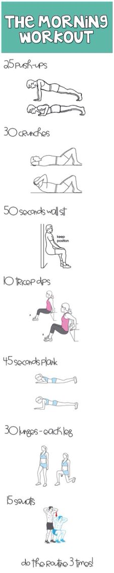 Simple, easy to follow workout