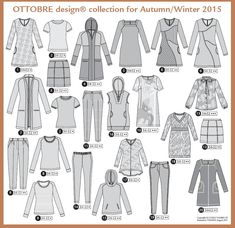 Ottobre Woman Fall Winter 2015 Issue - SewBaby News Diy Clothing, Sewing Clothes, Coin Couture, Fans, Funky Outfits, Like A Cat, Deep Teal, Modern Fabric, Fall Winter 2015
