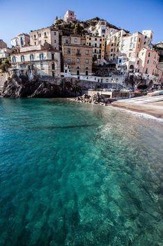 The azure waters of Minori, Italy.