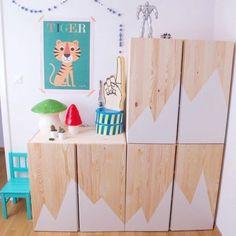 Customize an IKEA furniture for the child's room - Ikea DIY - The best IKEA hacks all in one place Ikea Hacks, Ikea Hack Kids, Ivar Ikea Hack, Ikea Deco, Ideas Habitaciones, Minimalist Kids, Kids Room Design, Ikea Furniture, Furniture Ideas