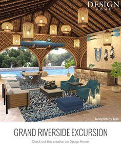 My Home Design, House Design, Gazebo, Pergola, Game Design, Taj Mahal, Outdoor Structures, Patio, Mansions