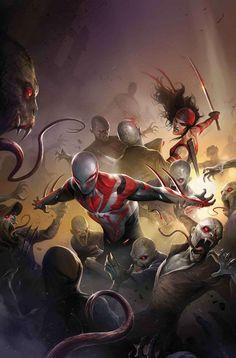 (Spider-Man 2099. Vol.3#19 Cover) By: Francesco Mattina.