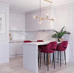 27 Modern Kitchen Interior Design That You Have to Try Kitchen Room Design, Modern Kitchen Design, Home Decor Kitchen, Home Kitchens, Kitchen Ideas, Stylish Kitchen, Condo Interior Design, Room Interior, Interior Livingroom